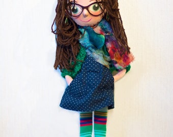 Customizable Personalized portrait cloth doll, ragdoll