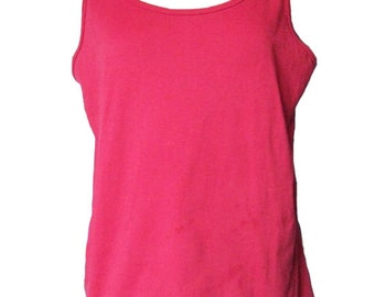 Tank Top Red Cotton Jersey Knit