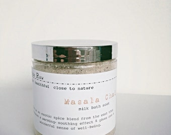 Masala Chai-bath tea/Dead sea salt/bath salt/Epsom salt/Hydrating oatmeal bath/Detox bath/Mineral bath/Herbal bath salt/Soothing bath-8oz.