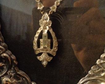 Deco Paste Necklace 1920s-1930s