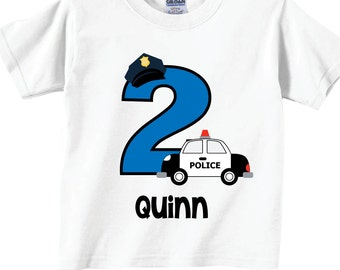 Police 1st Birthday Shirts and Tshirts Tees
