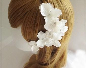 Wedding Headpiece, Flower Headpiece, Flower Fascinator, Bridal Flower Fascinator, Wedding Hair Accessories-HP153dia