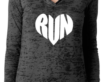 Running Love Love to Run Hoodie Sweatshirt