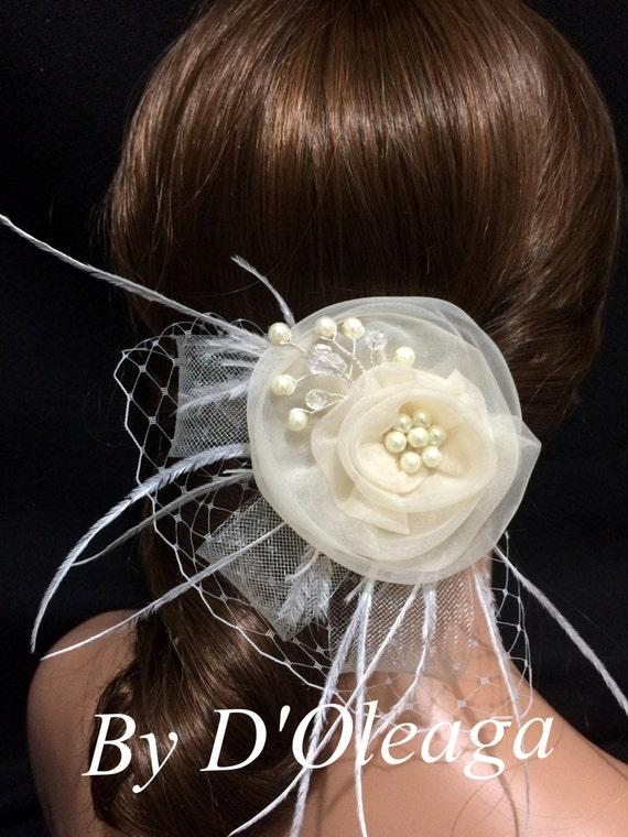 Champagne Bridal Fascinator Bridal Headpiece Wedding