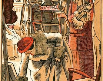 BRIC A BRAC!  Art Deco FLAPPER Fashion Illustration. Vintage Art Deco Flapper Illustration. Digital Flapper Download. Printable Image.