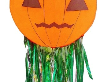 2D Pinata Pumpkin for Halloween Parties | Fun Party Game | Pumpkin Party Decor | Harvest Theme Party | Halloween Decor | Party Supplies