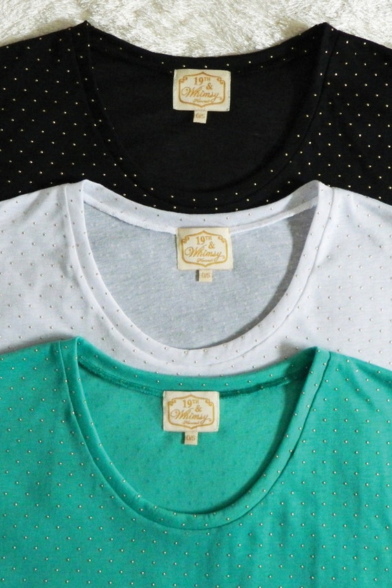 Dotty Gold Dots Tee / More Colors!