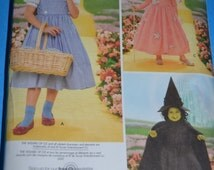 Simplicity 4139 Childrens Wizard of OZ Costume Sewing Pattern - UNCUT - Sizes 3 4 5 6 7 8