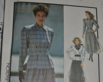 Style 1458  Misses Jacket and Skirt Sewing Pattern - UNCUT - Size 12