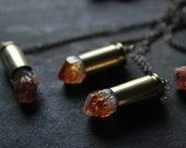 raw crystal bullet necklace-raw Citrine Bullet Necklace-raw Citrine necklace -November birthstone-crystal point necklace
