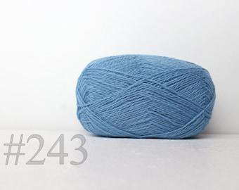 WOOL yarn 100%-Wool for knitting, crochet - sky blue #243