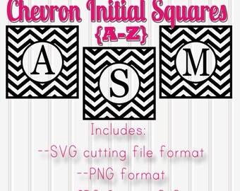Monogram SVG Chevron Squares Set Includes A through Z! SVG format is for Designer Edition Studio when using Silhouette