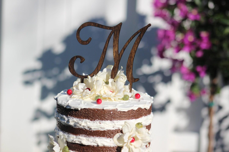 monogram wedding cake topper wooden wedding cake by weddingpros. Black Bedroom Furniture Sets. Home Design Ideas