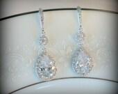 Crystal Bridal Earrings Wedding Earrings Wedding Jewelry Statement Earrings Bridal Teardrop Earrings Bridal Jewelry Set Swarovski