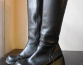 RESEREVED (Please Do Not BUY) Vintage Black DESTROY Women's Boots Wedge
