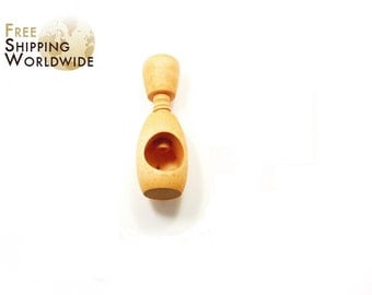 Wooden Nutcracker Simple One Hole from Beech wood - 68
