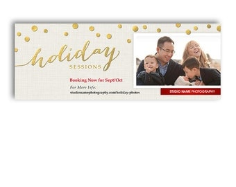Facebook Cover Template - Christmas Mini Session Marketing - Sparkle - 1150