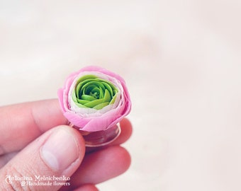 Ring Ranunculus - Polymer Clay Flowers