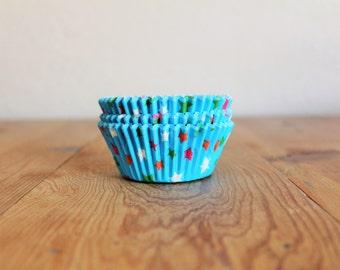 Blue Stars Cupcake Liners- (25)