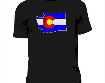 Colorado Flag Washington State T-Shirt