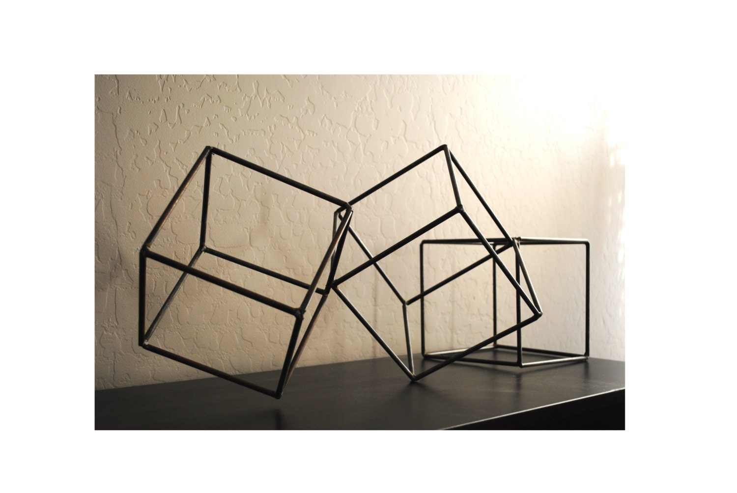 Metal Abstract Art Sculpture Modern Retro Simple Table Decor