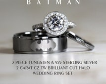 His And Hers Batman Wedding Rings 007 - His And Hers Batman Wedding Rings