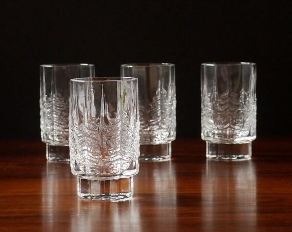 Set Four Iittala KUUSI Shot Glasses Design JORMA VENNOLA