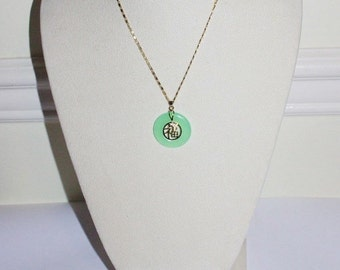 3pc Green Jade Necklace Set  - S396