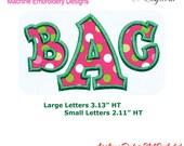Applique Alphabet Ver 21 Machine Embroidery Designs Monogram Fonts BX Format Digital Download