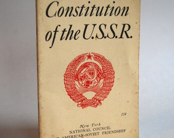 Vintage Booklet, Constitution of the U. S. S. R