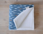 Organic Baby Blanket in Blue School