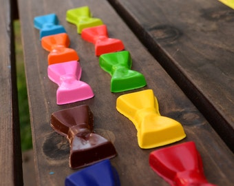 Bow Tie Crayons set of 10 - party favors