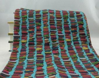 Stacks and Stacks of Books Scarf, Aqua