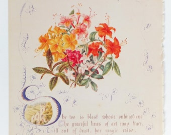 Azaleas, Botanical print, Vintage Picture, Botanical Illustrations, Floral Picture, Flowers Picture, Flower Print
