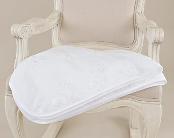 Lillian Lace Baby Christening Blanket