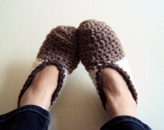 Chunky Slippers For Men or Women Crochet Slippers Slipper Socks House Shoes
