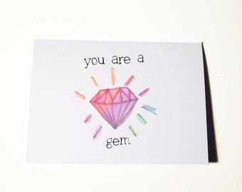 Youre A Gem Birthday Card