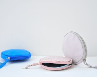 Leather round purse