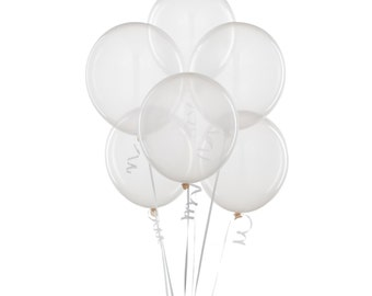 18 inch Clear Balloons 3pc - Birthday Party, Bridal Shower, Baby Shower
