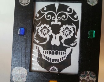 Sugar Skull Picture Frame