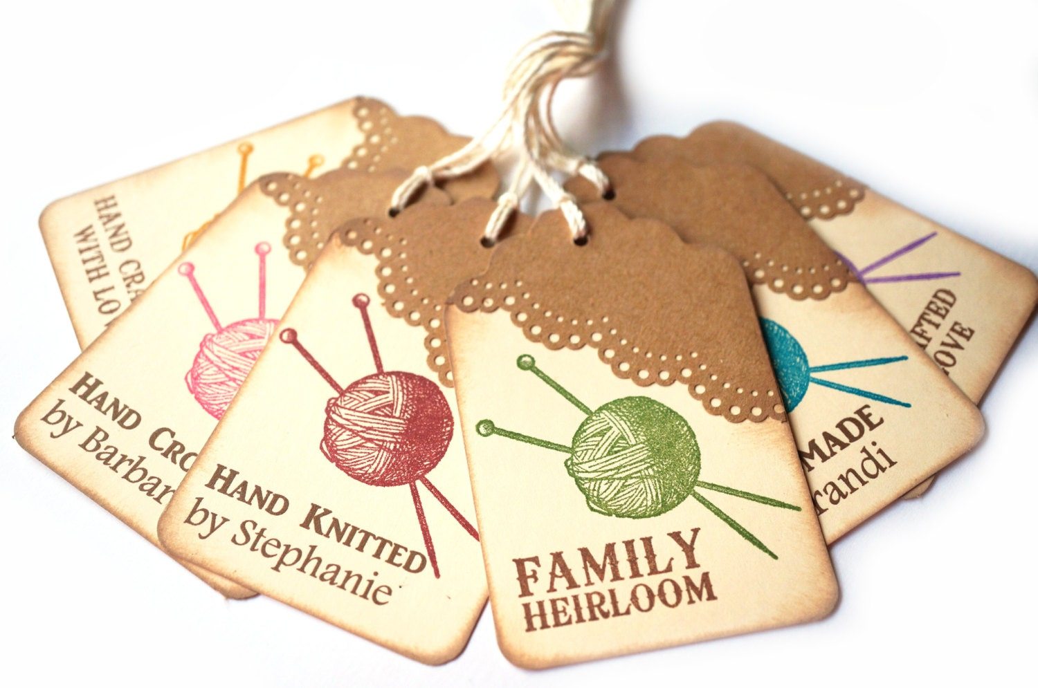 Knitting Gift Tags : Knitting gift tags personalized by