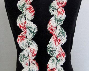 Crochet Scarf, Christmas Scarf, Hand Crochet Scarf, Chunky Crochet Scarf, White Crochet Scarf, Crochet Scarves Women, Stocking Stuffer