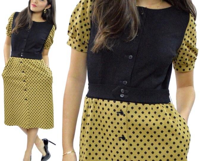 Vintage 60's Lanvin Boutique Paris Made in France Shirtdress Polka Dot Mod Dress