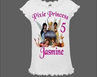 Disney Fairies Birthday Shirt - Tinkerbell Birthday Shirt