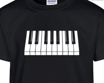 YOUTH / KIDS Piano T Shirt Piano Keyboard T Shirt Youth Piano Keys Shirt Childrens Shirt