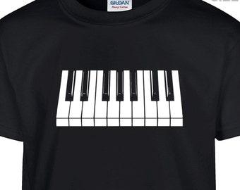 YOUTH / KIDS Piano T Shirt Piano Keyboard T Shirt Youth Piano Keys Shirt Childrens Shirt Kids Piano Shirt Boys Piano Shirt Girls Piano Shirt