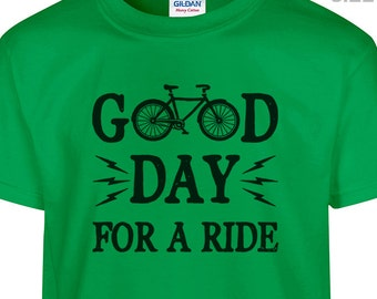 YOUTH / KIDS Good Day For A Ride Bicycle T Shirt Cool Kids Shirt Kids Bicycle T Shirt Childrens bicycle shirt