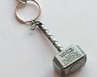 SUPERHEROS Thor Hammer Key Chain Bag Charm, Superhero, Avenger KC37B