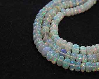 15 pcs of AAAA Grade Real Natural Opal Abacus Beads - 3 - 7 mm