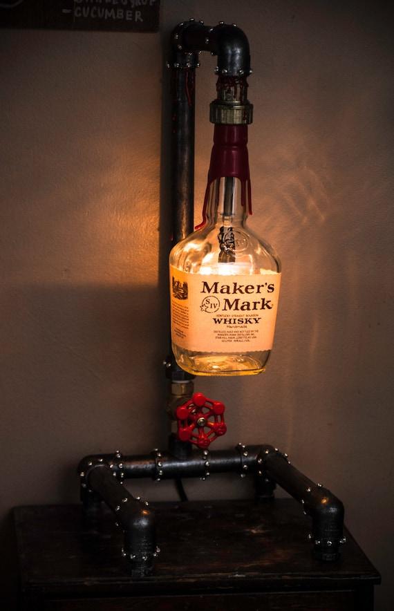 Steampunk Liquor Bottle Lamp By Mollisuniqueboutique On Etsy